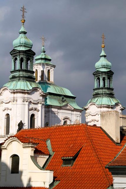 Prague Rooftops and Spires.