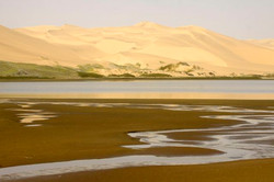 Water paterns and dunes.