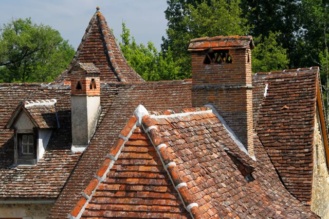 Tiled Roof, Carennac, France.