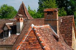 Tiled Roof, Carennac, France.