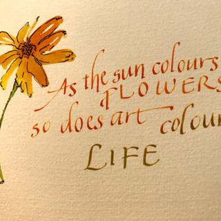 Art & Life - calligraphy
