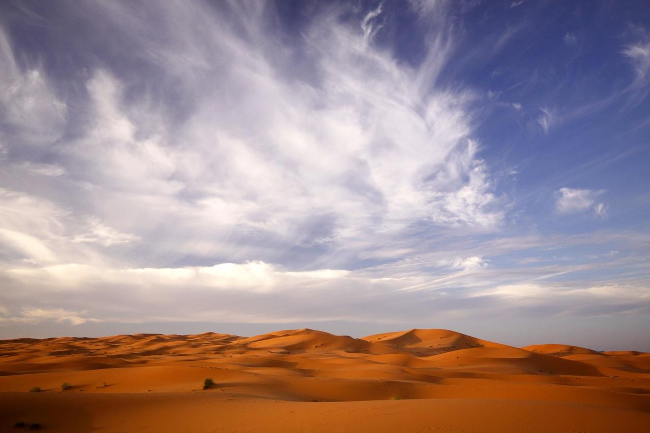 Sahara Cloudscape, Morocco.