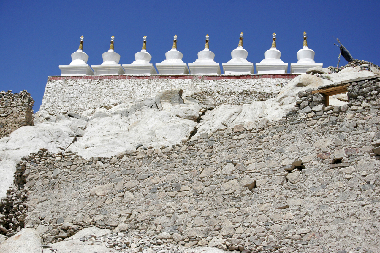 Buddhist Stupa, Leh, India.