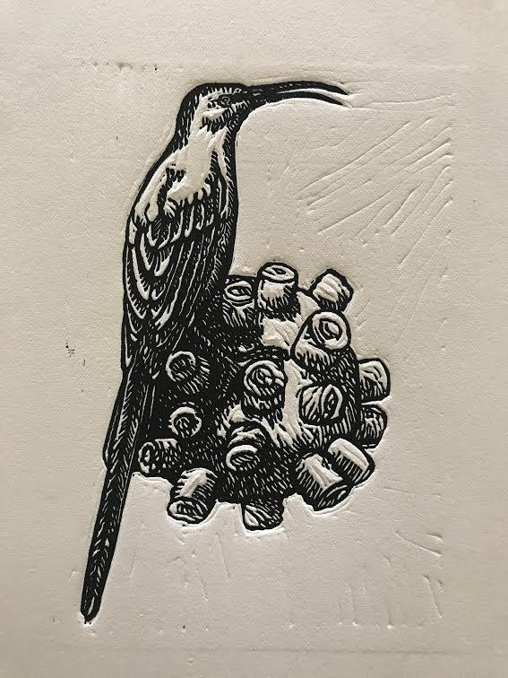 linocut-10 x 15 cm-friend or foe series-