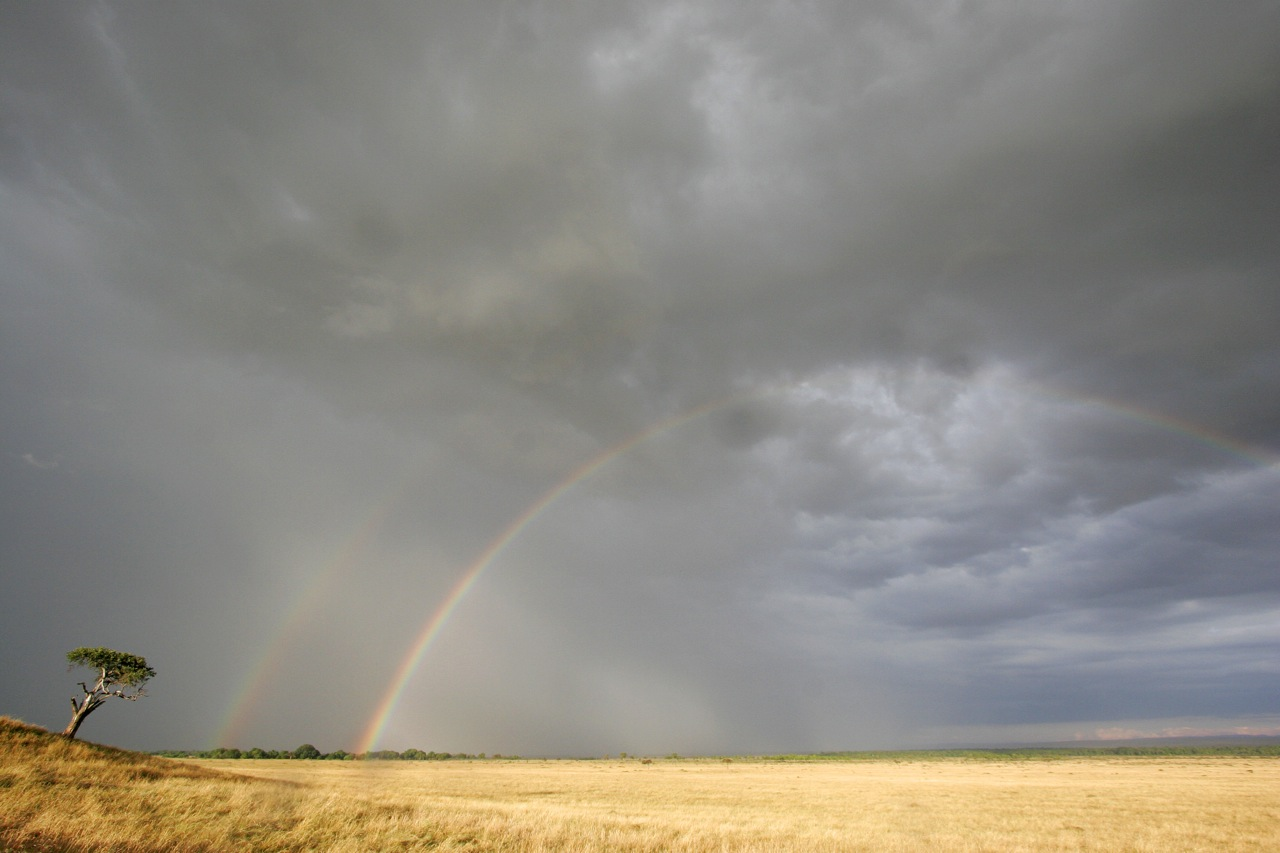 Rainbows in the Mara.