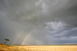 Rainbows in the Mara.