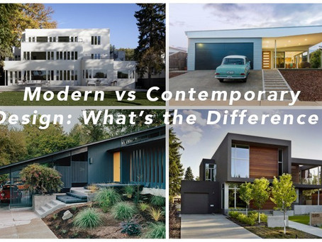 Modern Or Contemporary:  What's The Difference?