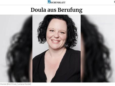 Doula in der Zeitung