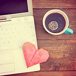 Laptop or notebook with cup of coffee a
