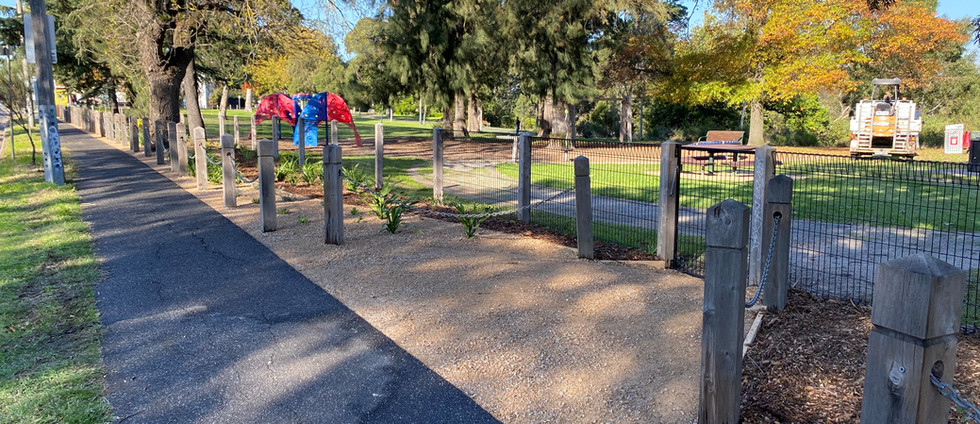 Fairfield Park Path and Garden Bed Works