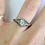 Thumbnail: 18kt Oval Old Mine cut Diamond Ring