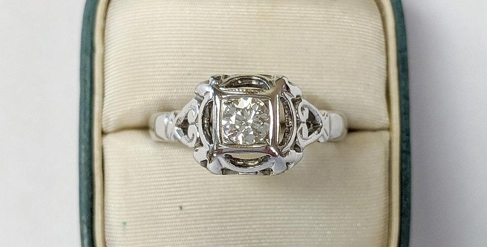 18kt Transition cut Diamond Ring