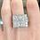 Thumbnail: Platinum Old Mine cut Diamond Ring