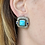 Thumbnail: David Yurman 14kt/Sterling Silver Turquoise and Iolite Earrings