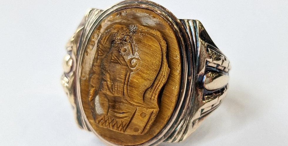 10kt Tigers Eye Ring