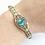 Thumbnail: Handmade 14kt Blue Topaz Bracelet
