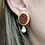 Thumbnail: 18kt Carved Carnelian Stone and Pearl Earrings