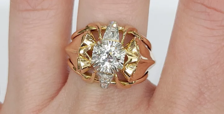 18kt Two-tone Diamond Ring