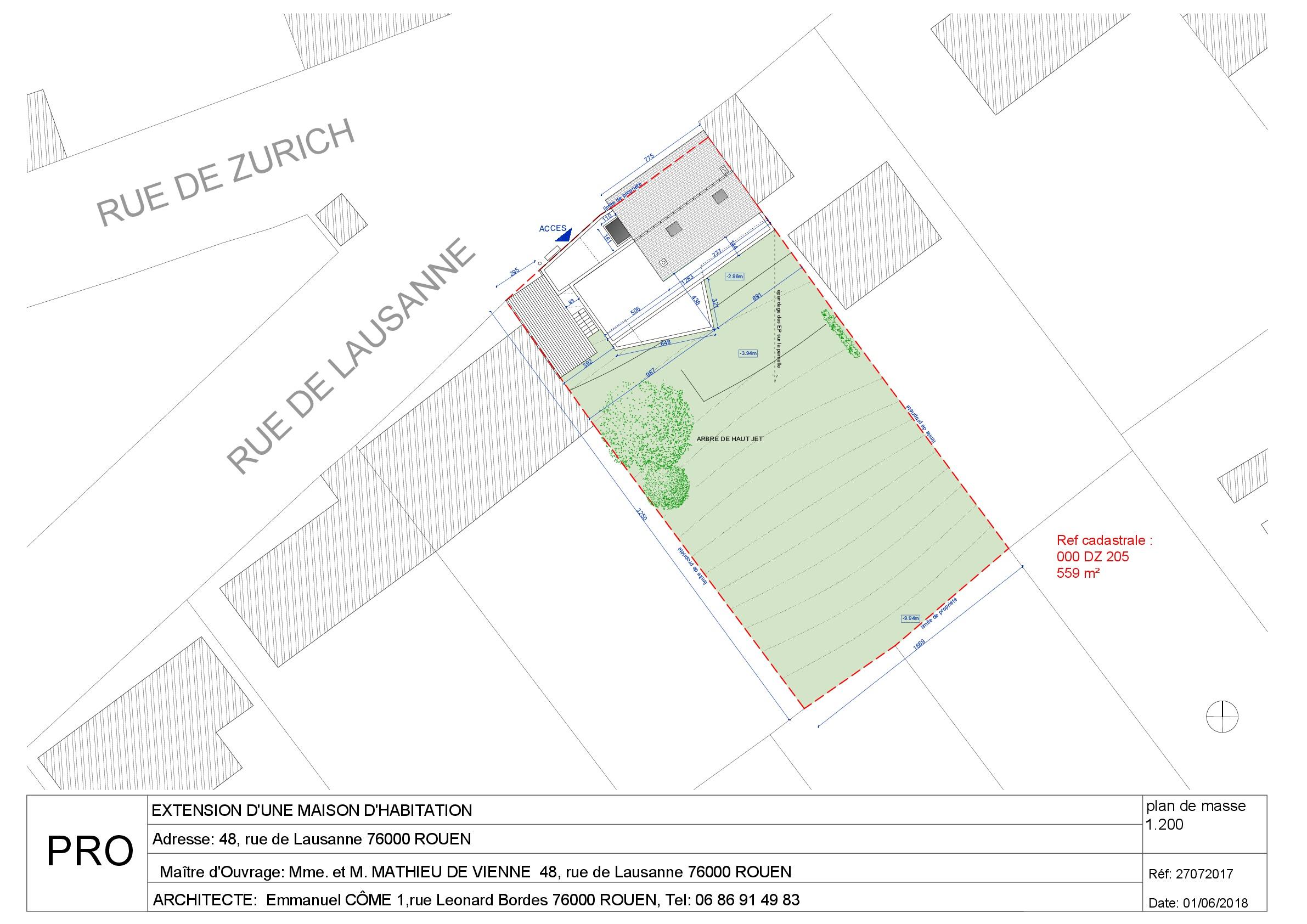 PRO RUE DE LAUSANNE 01.06.2018-projet plan masse-001