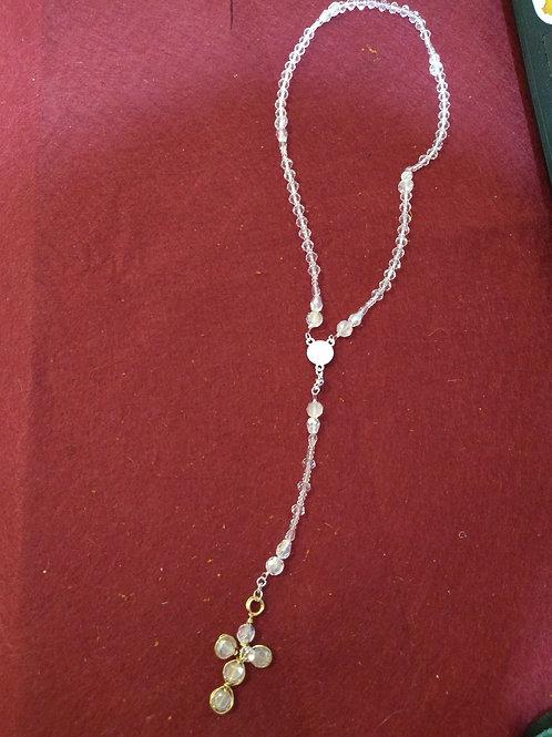 rosario modelo cruz cristales