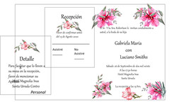 invitac flores rosas fondo blanco