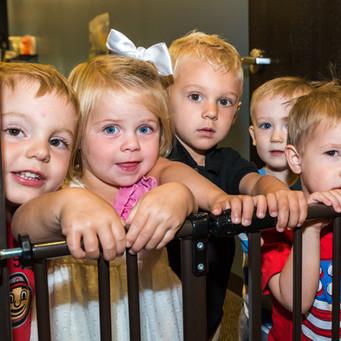 Toddler Nursery kids at gate