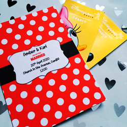 minnie mouse inspired wedding invite