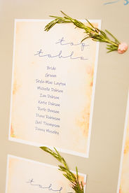 close up rosemary table plan