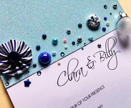jewelled wedding invitation