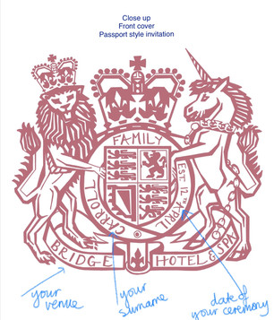 front cover passport invitation
