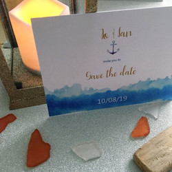wave themed save the date
