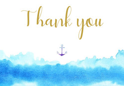 wave themed thank you card