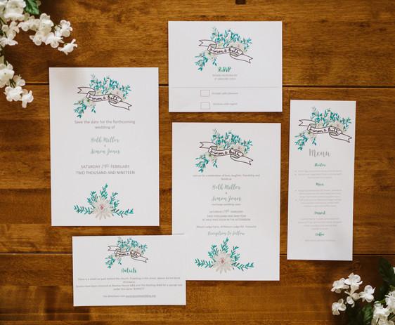 laurel invitation suite