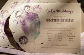 invitation based on an engagement ring