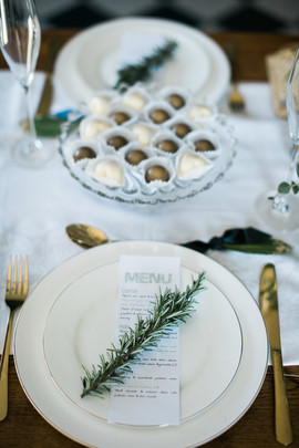 wedding menu cards and chocolates