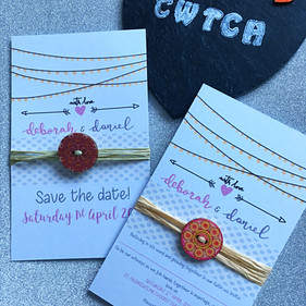 wooden button wedding invite suite