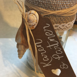 close up message in a bottle invite
