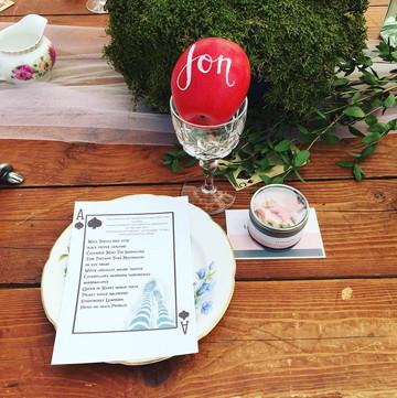 playing card themed wedding menu