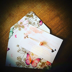 handmade envelope with a wish bracelet on a white card - 'thank you for being my maid of honour'