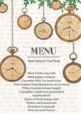 close up clock menu