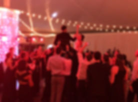 People having a great time at a weding