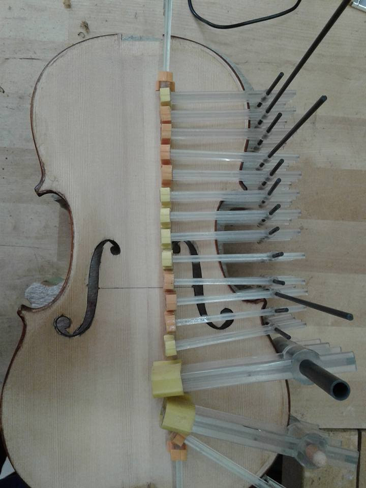 Many Berna clamps used to provide finger tight when pressure only to the bass bar.