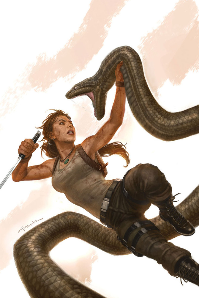 Dark Horse Comics reveals the cover of Tomb Raider #16 by Andy Park