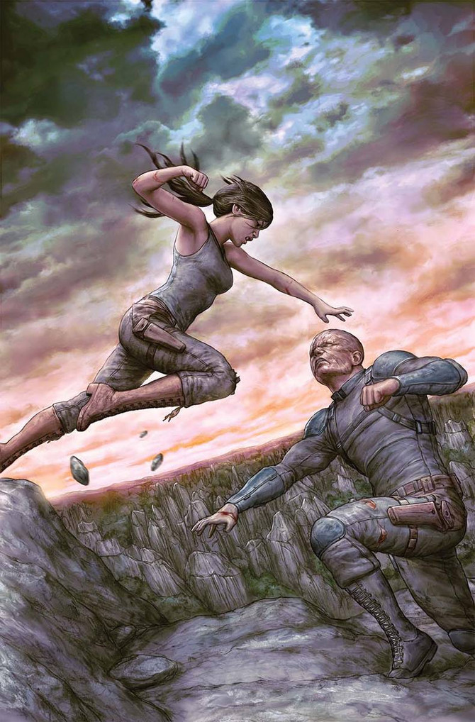 New cover for Tomb Raider II #06 by Dark Horse Comics.
