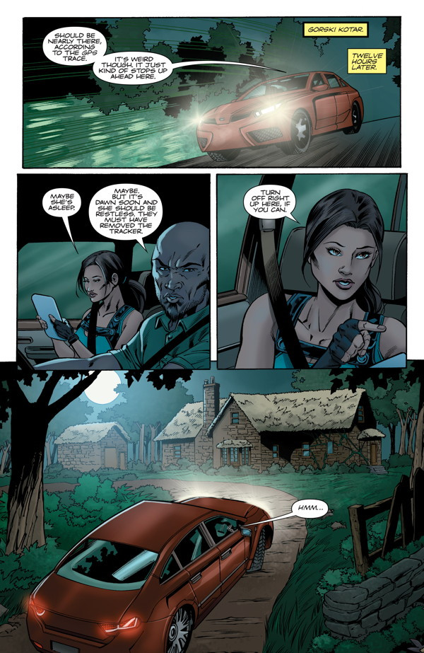 Preview Pages: Lara Croft and the Frozen Omen #4