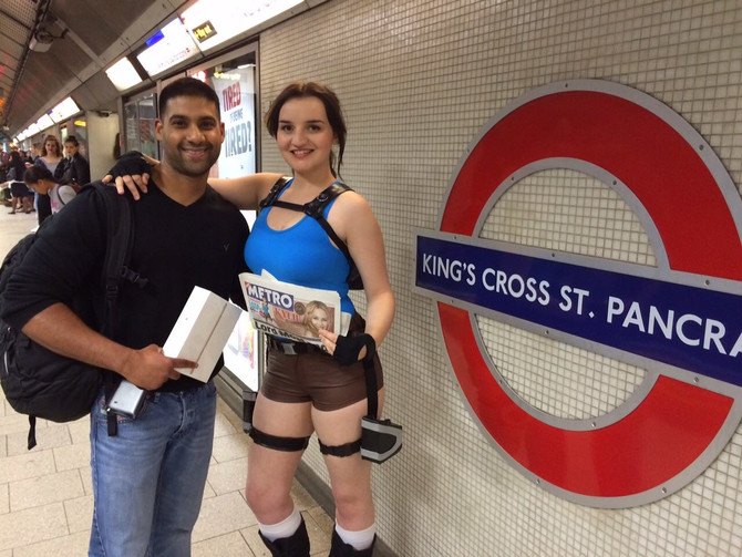 Catch a Croft on the Tube. Lara Croft Go, London event.