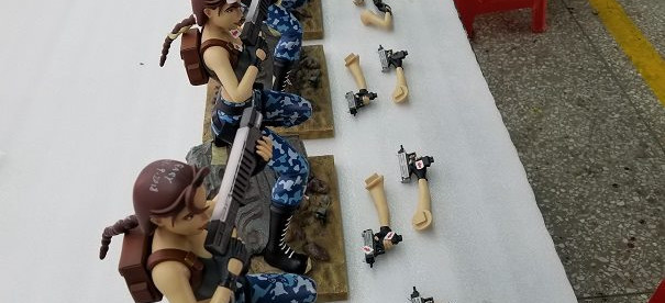 The production of the new statue of Lara Croft has begun.