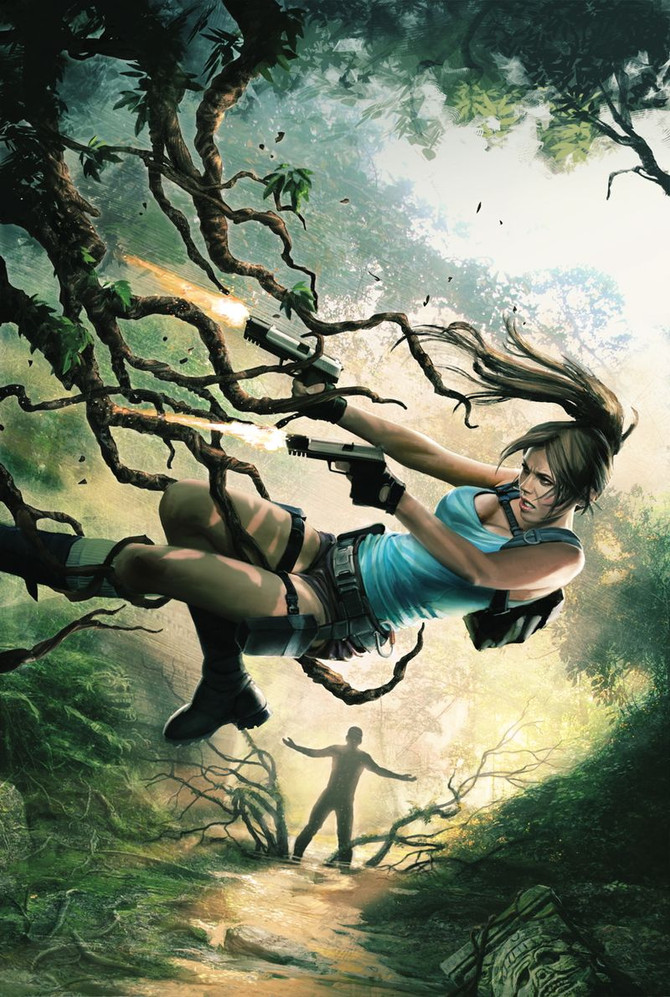 """New comics series based on """"Lara Croft"""" franchise will come with Randy Green and  Corrina"""