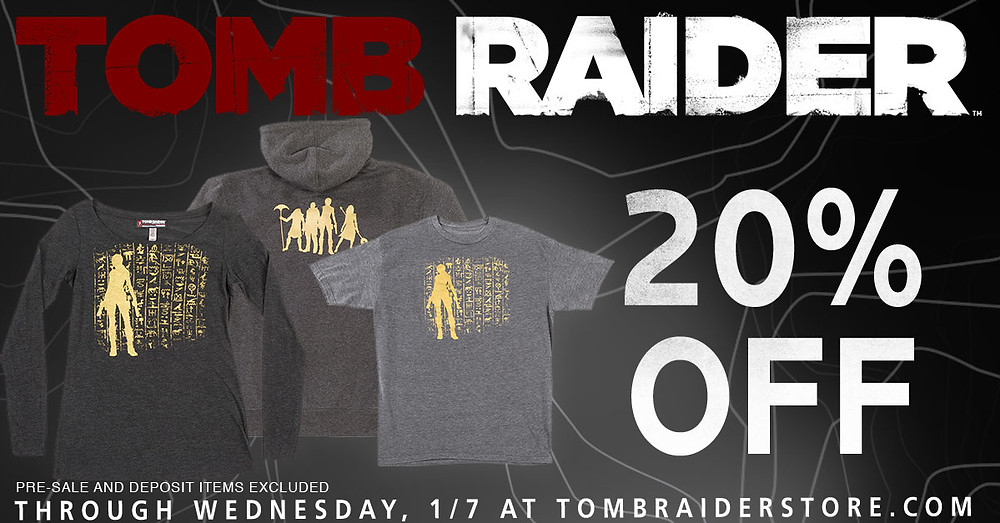 tomb raider store 20% off christmas