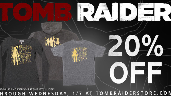 Special SALE! Tomb Raider Store End-of-Year Clearance Sale